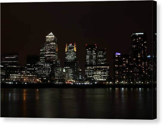 Canary Wharf Skyline Canvas Print by Dan Davidson