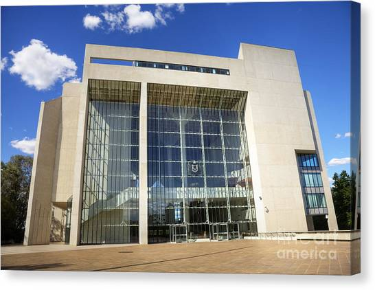 Canberra Canvas Print - Canberra High Court Of Australia by Colin and Linda McKie