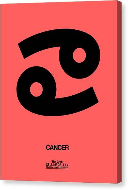 Canvas Print - Cancer Zodiac Sign Black by Naxart Studio