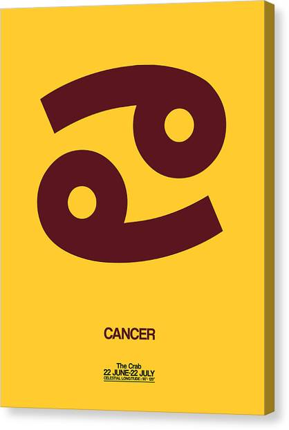 Canvas Print - Cancer Zodiac Sign Brown by Naxart Studio