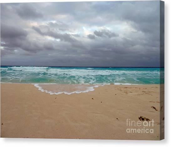 Cancun - Dark Sky Canvas Print