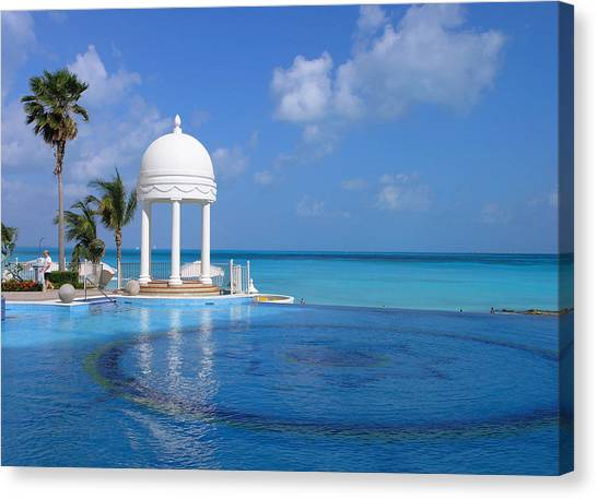 Cancun Temple Canvas Print
