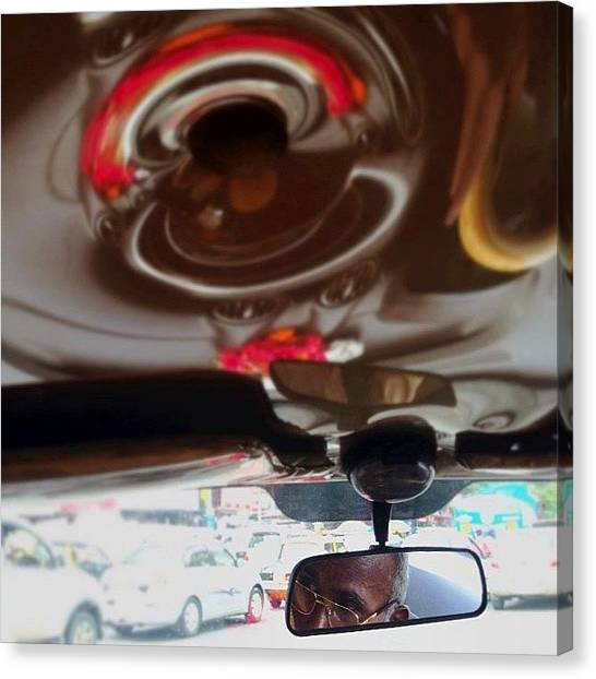 Mac Canvas Print - #candid From The Backseat Of A #taxi In by Ramen Mac