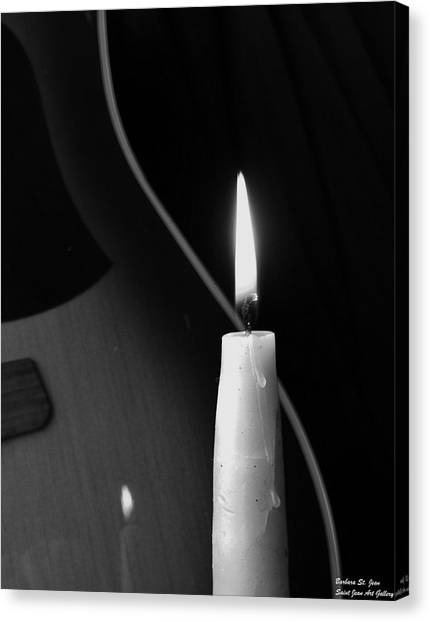 Candle Light Serenade Canvas Print