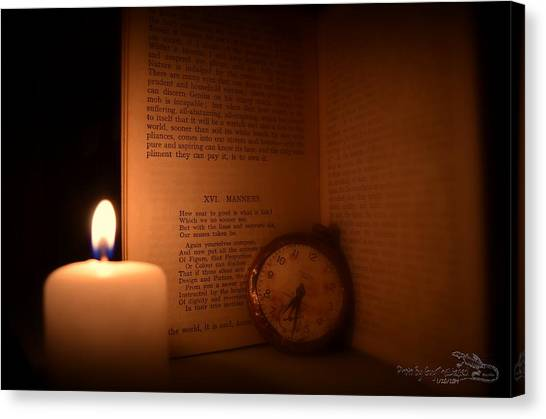 Candlelight Read Canvas Print