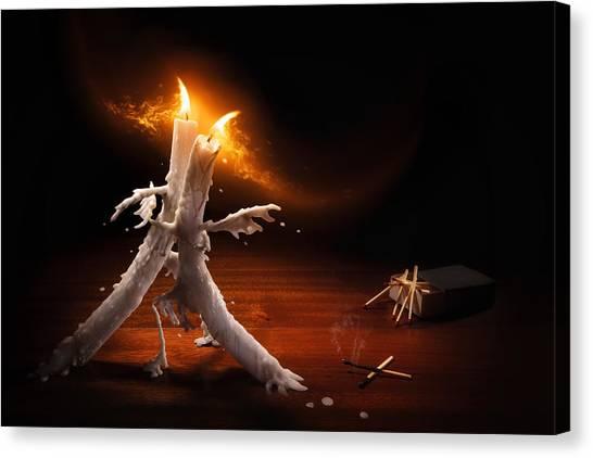 Tango Canvas Print - Candlelight Tango by Christophe Kiciak