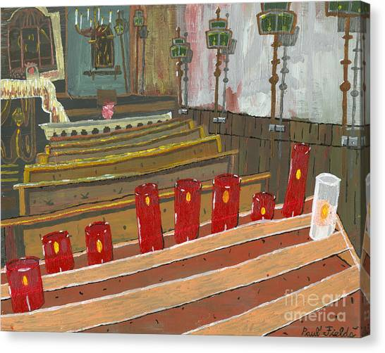 Candles In Cinque Terra Canvas Print