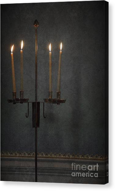 Candle Stand Canvas Print - Candles In The Dark by Margie Hurwich