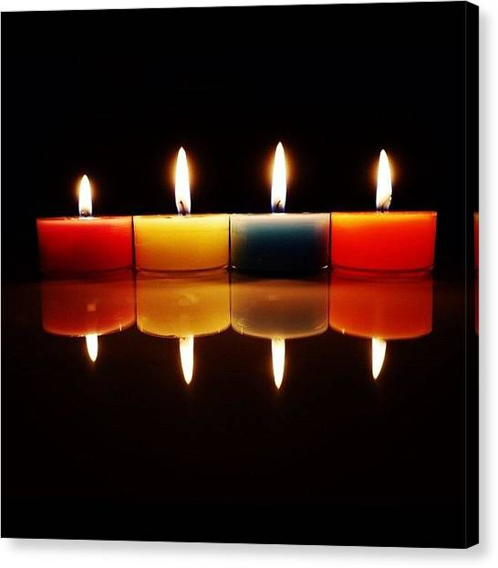 Color Contrast Canvas Print - Candles by Nmhei Nm