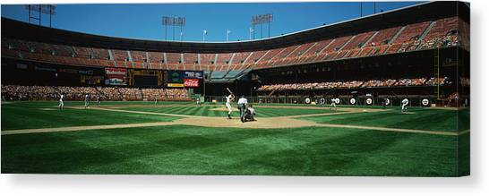San Francisco Giants Canvas Print - Candlestick Park San Francisco Ca by Panoramic Images