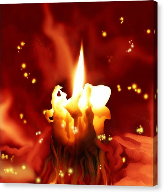 Candletown Canvas Print