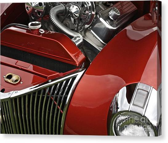 Candy Apple Red And Chrome Canvas Print