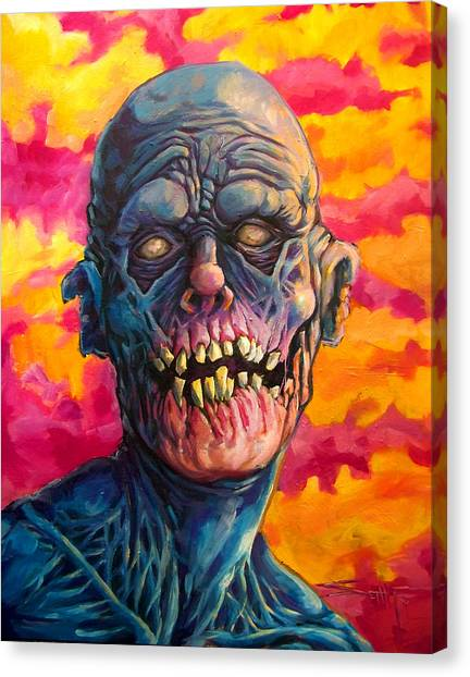 Zombieland Canvas Print - Candy Pop Apocalypse  by Seth Fyffe
