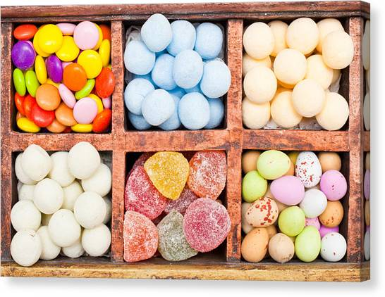 Diabetes Canvas Print - Candy Selection by Tom Gowanlock