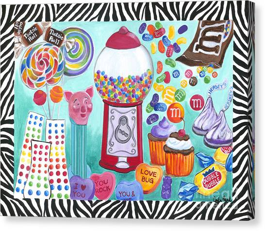 Canvas Print featuring the painting Candy Window by Carla Bank