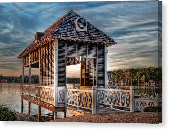 Canebrake Boat House Canvas Print