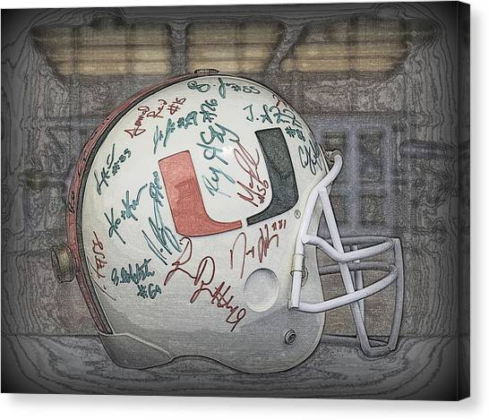 University Of Miami Canvas Print - Canes Rule by Jen T