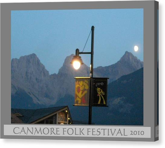 Canmore Folk Festival Canvas Print