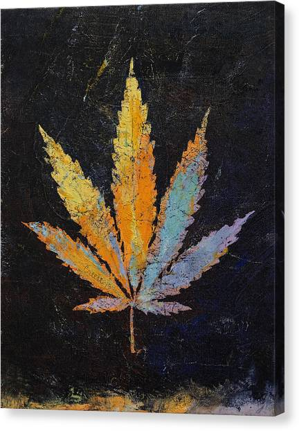 Marijuana Canvas Print - Cannabis by Michael Creese