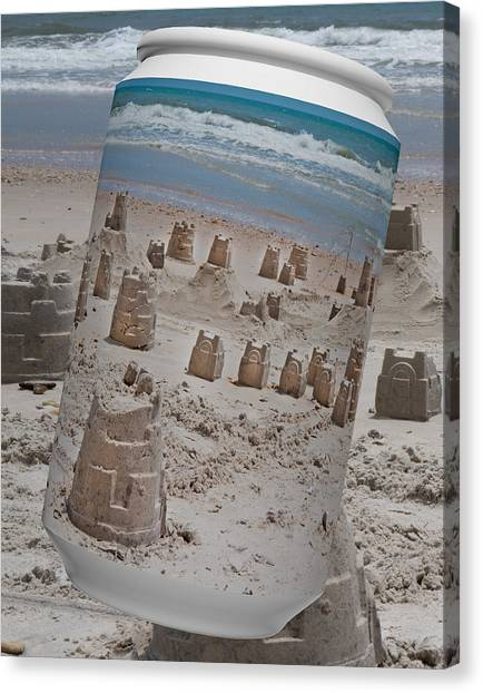 Sand Castles Canvas Print - Canned Castles by Betsy Knapp