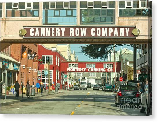 Cannery Row Monterey California Canvas Print