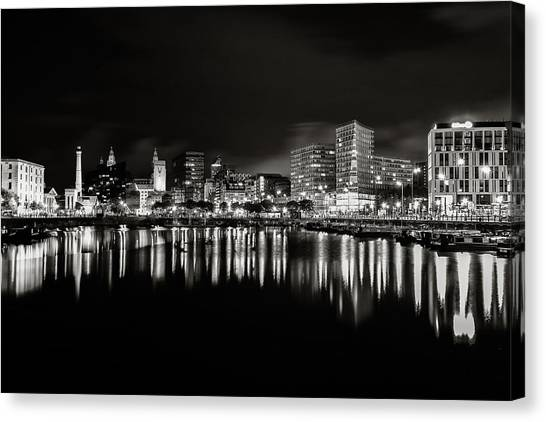 Canning Dock Liverpool Canvas Print by Wayne Molyneux