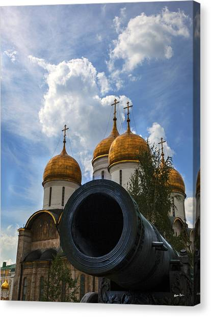 Cannon And Cathedral  - Russia Canvas Print