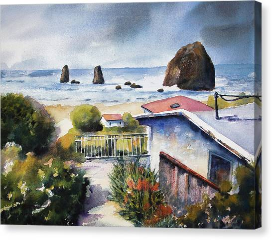 Cannon Beach Cottage Canvas Print