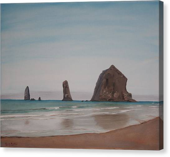 Cannon Beach Haystack Rock Canvas Print