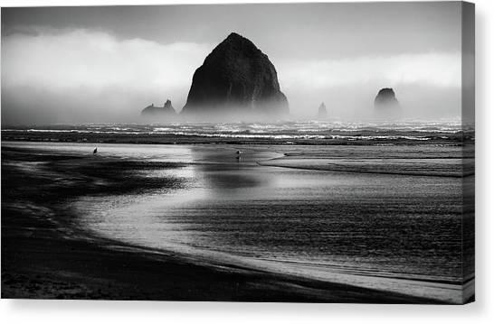 Beach Cliffs Canvas Print - Cannon Beach by Martin Rak