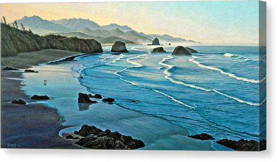 Oregon Canvas Print - Cannon Beachcombers by Paul Krapf