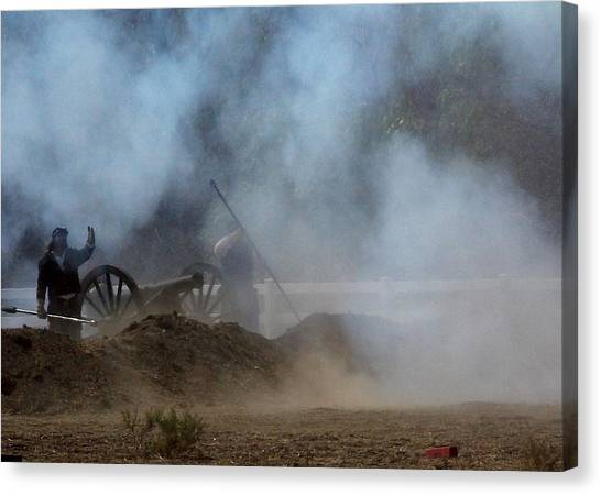 Cannon Fire 3 Canvas Print by Chuck Kemp