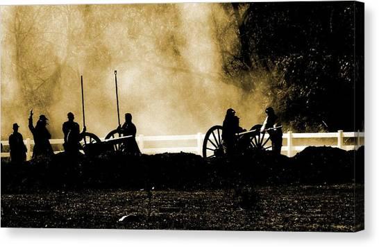 Cannon Ready 3 Canvas Print by Chuck Kemp