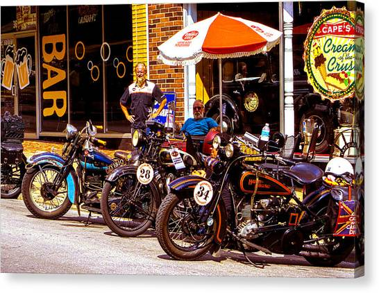 Cannonball Motorcycle Colors Canvas Print