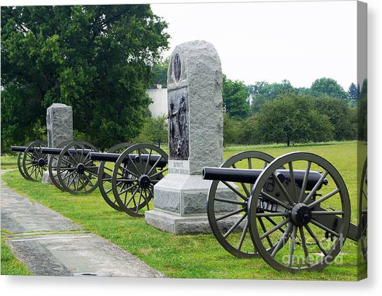 Cannons At Gettysburg Canvas Print