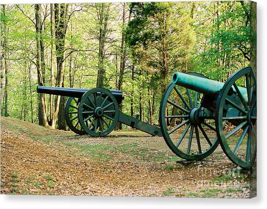 Cannons I Canvas Print