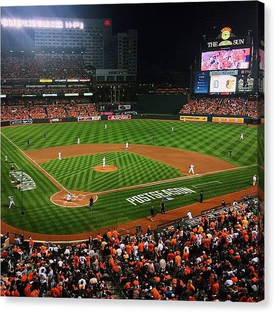 Orioles Canvas Print - Cannot. Top. This. #postseason by Olivia Witherite