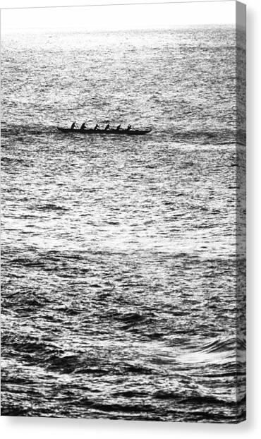 Beach Style Canvas Print - Canoe Glitter by Sean Davey