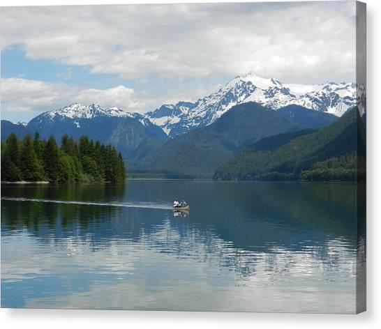 Canoe On Baker Lake Canvas Print