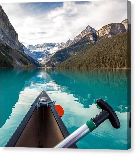 Victoria Falls Canvas Print - Canoe Trip by Tiffany Wuest