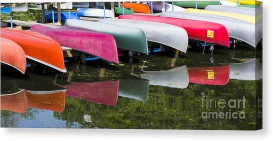 canoes - Lake Wingra - Madison  Canvas Print