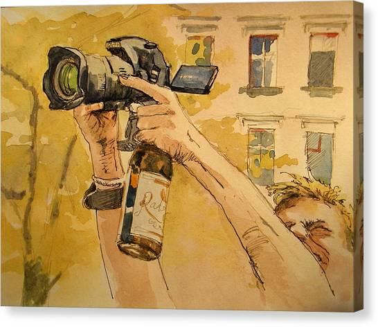 Berlin Canvas Print - Canon Eos Street by Juan  Bosco