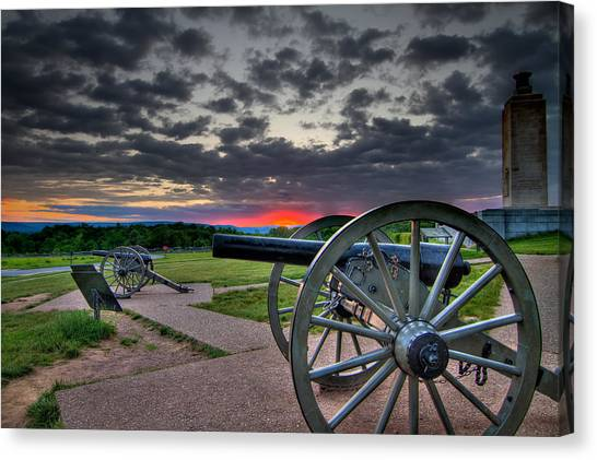 Canon Over Gettysburg Canvas Print