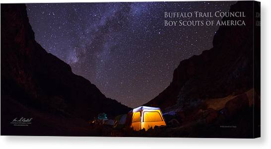 Boy Scouts Canvas Print - Canopy Of Stars - Pano by Aaron Bedell