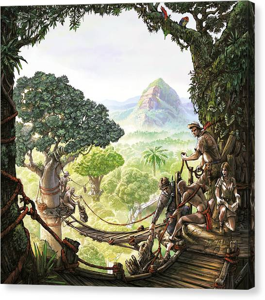 Canopy Walk Cover Art Canvas Print