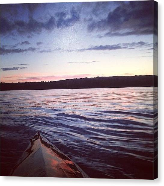 Kayaks Canvas Print - Can't Beat A Sun Set Kayak Around by Jack O Sullivan