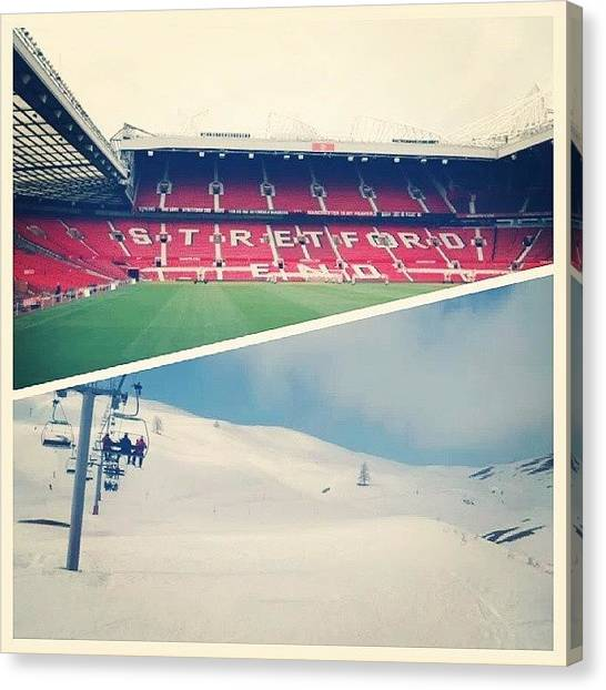 Manchester United Canvas Print - Can't Decide Which Is My Favourite by Dan Rozzell