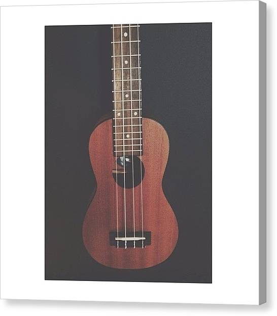 Ukuleles Canvas Print - Can't Play This Thing For Shit #ukelife by Holly Macie