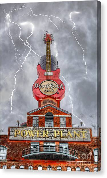 Can't Stop The Rock Canvas Print
