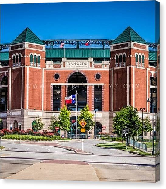 Texas Rangers Canvas Print - Can't Wait Until Opening Day! by Robert Bellomy